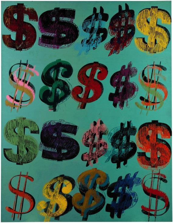 Andy Warhol S Painting Of A Dollar Bill Could Sell For