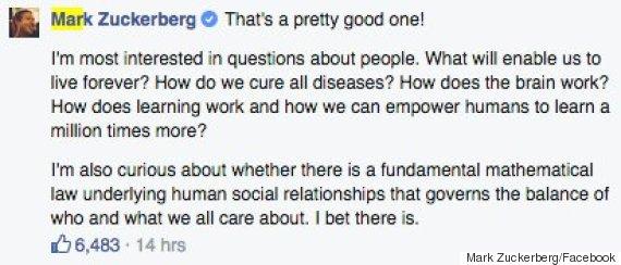 mark zuckerberg stephen hawking facebook chat