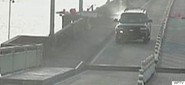 Caught On Video: Man In SUV Jumps Drawbridge