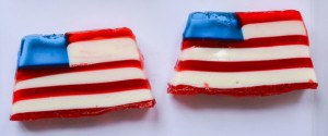 AMERICAN FLAG JELLO SHOTS