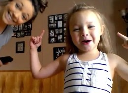 Little Girl And Her Pregnant Mom Dance Their Way To Viral Stardom