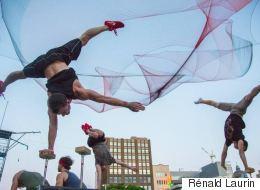 Place à «Duels», le nouveau spectacle extérieur de Montréal Complètement Cirque (PHOTOS)