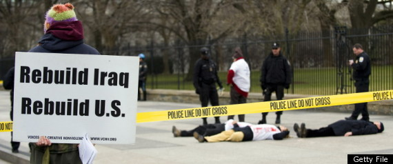 Antiwar Activists Arrested White House