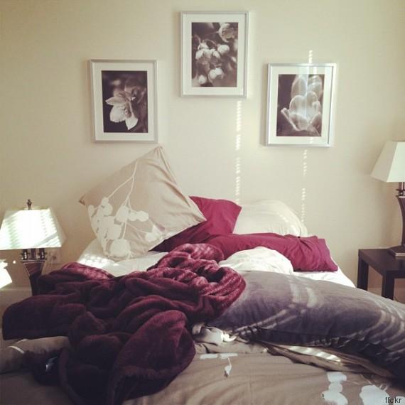 cama desarrumada