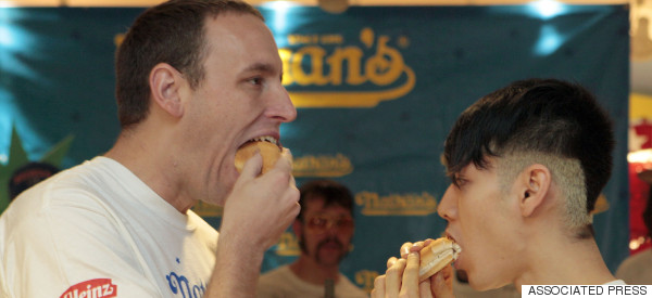 Jaws Drop Over Dream Bout Between Hot Dog-Eating Legends