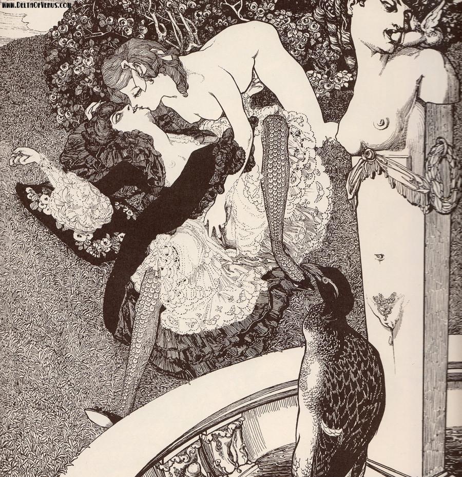 Erotic bdsm victorian drawings
