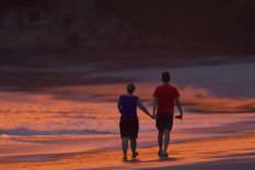 Sonnenuntergang am Strand   Bild: PA