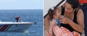 BABY RESCUED AT SEA