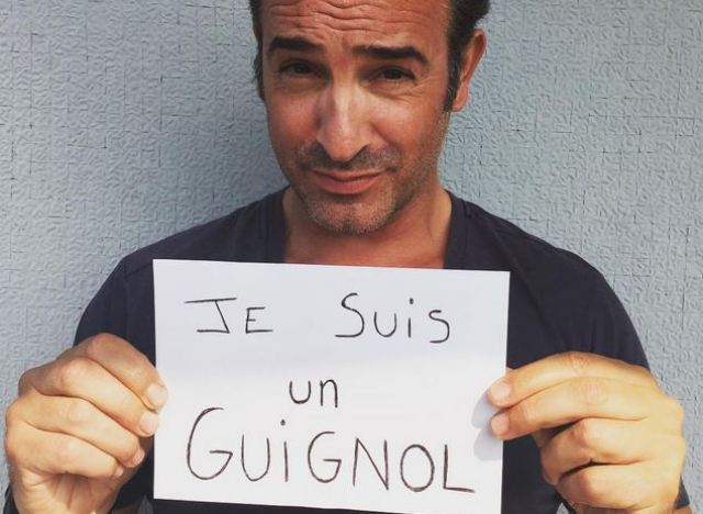 Photo jean dujardin se mobilise pour les guignols for Jean dujardin instagram
