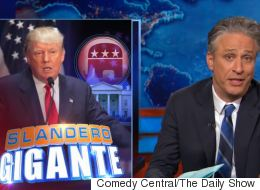 Jon Stewart Comes Up With A New Campaign Slogan For Donald Trump