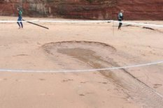 Hole appears at beach | Pic: Facebook