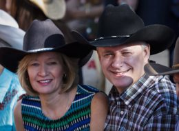 Federal Leaders Attend Stampede With Election In Mind