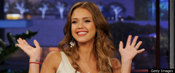 Jessica Alba Pregnant On The Tonight Show With Jay