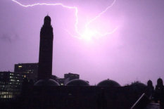 Lightning strike captured | Pic: PA