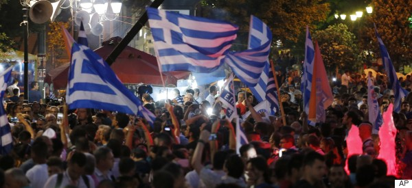 Thousands Celebrate In Syntagma Square As Greece Votes 'No'