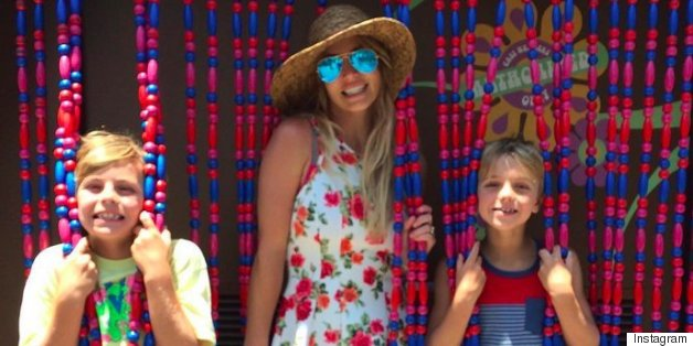Britney And Her Boys Recreate Her 'Oops' Album Cover Photo