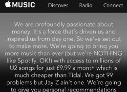 At Least The Apple Music Blurb Is Honest...
