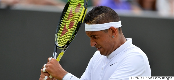 Nick Kyrgios Gives Up In New Level Of Bizarre Behaviour At Wimbledon