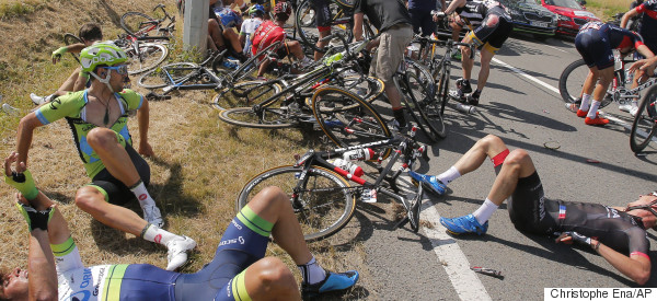 Heavy Crash On Third Stage Of The Tour De France