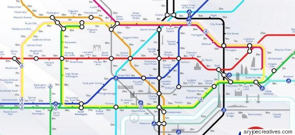 Beat The Tube Strike With This Fantastic London Underground Walking Map #WalkLondon