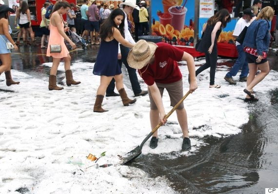 calgary stampede hail