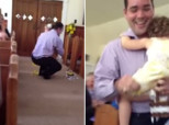 Dad Helps Distressed Flower Girl Get The Job Done