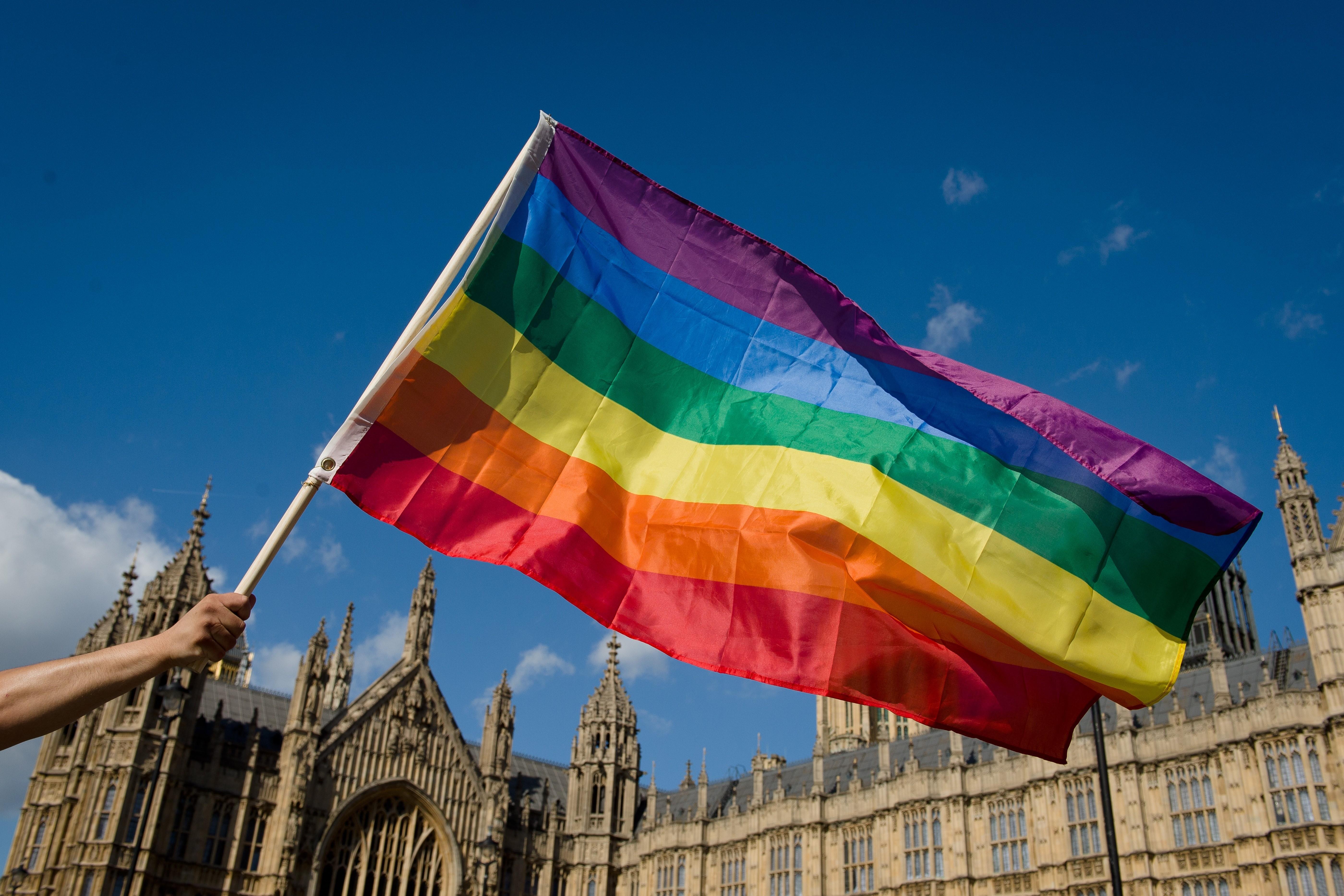 gay flag parliament london