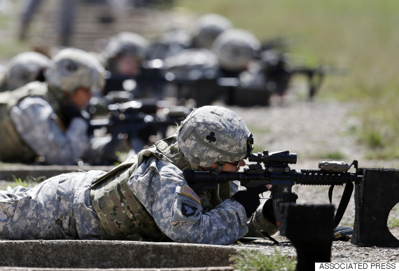 female soldier front line