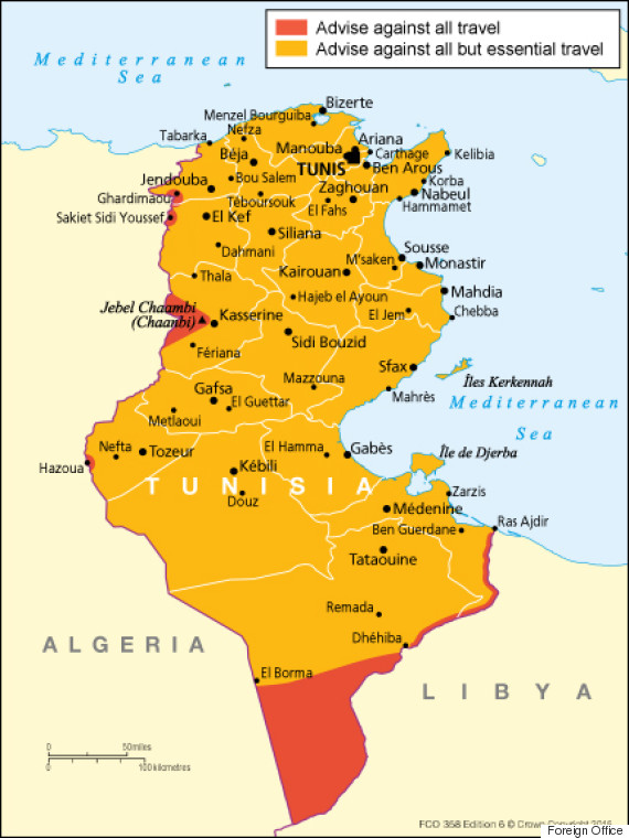 foreign office tunisia map