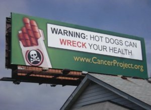 Hot Dogs Cigarettes Billboard