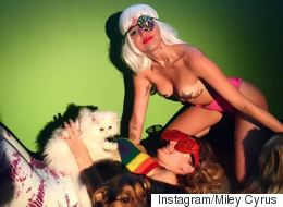 Miley Cyrus Teases Her Own 'Break The Internet' Pics