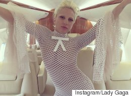 Gaga's Take On The White Jumpsuit Trend Is Predictably Eye-Popping