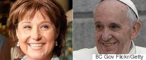 CHRISTY CLARK POPE FRANCIS