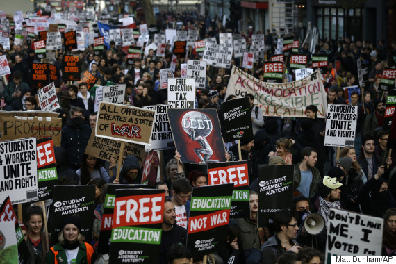 tuition fees protest
