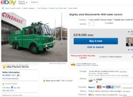 Boris Johnson Has Put His Water Cannon On eBay