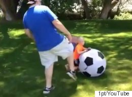 Dad Plays Football With Kids, Completely Ruins Their Day
