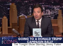 Jimmy Fallon Lists The Hilarious Pros And Cons Of Going To A Donald Trump Campaign Rally