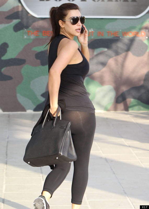 Kim Kardashian Wears See-Through Leggings (PHOTOS)