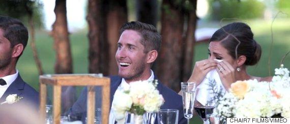 wedding speech crying