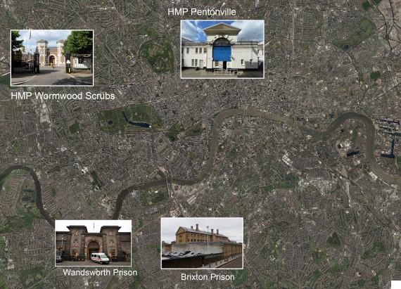 london prisons map gove