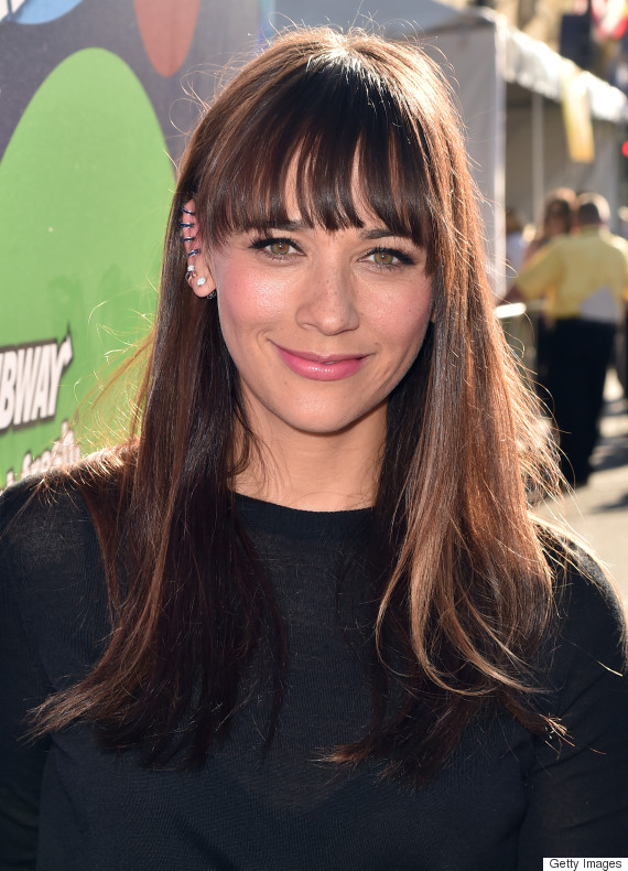 Growing out your bangs here are 8 hairstyle ideas to survive the rashida jones bangs winobraniefo Image collections