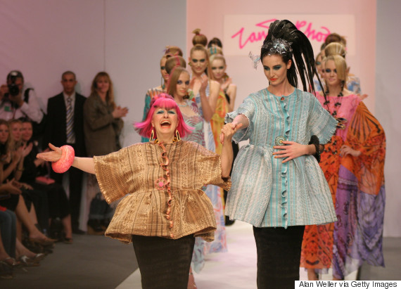 zandra rhodes london fashion week