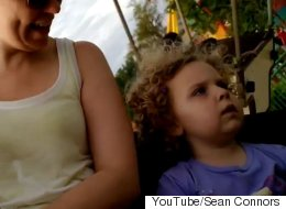 Little Girl Is Less Than Impressed With Amusement Park Ride