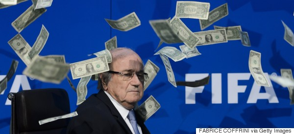 Lee Nelson Just Threw A Load Of Money In Sepp Blatter's Face
