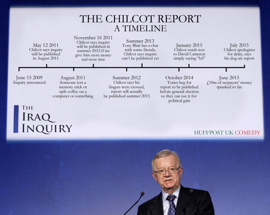 chilcot report timeline iraq inquiry