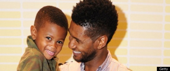 USHER SPENDS TIME WITH HIS SONS