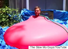 Here's A 6ft Man Inside A 6ft Water Balloon, Just Because