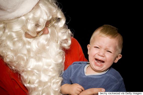 santa kids scared