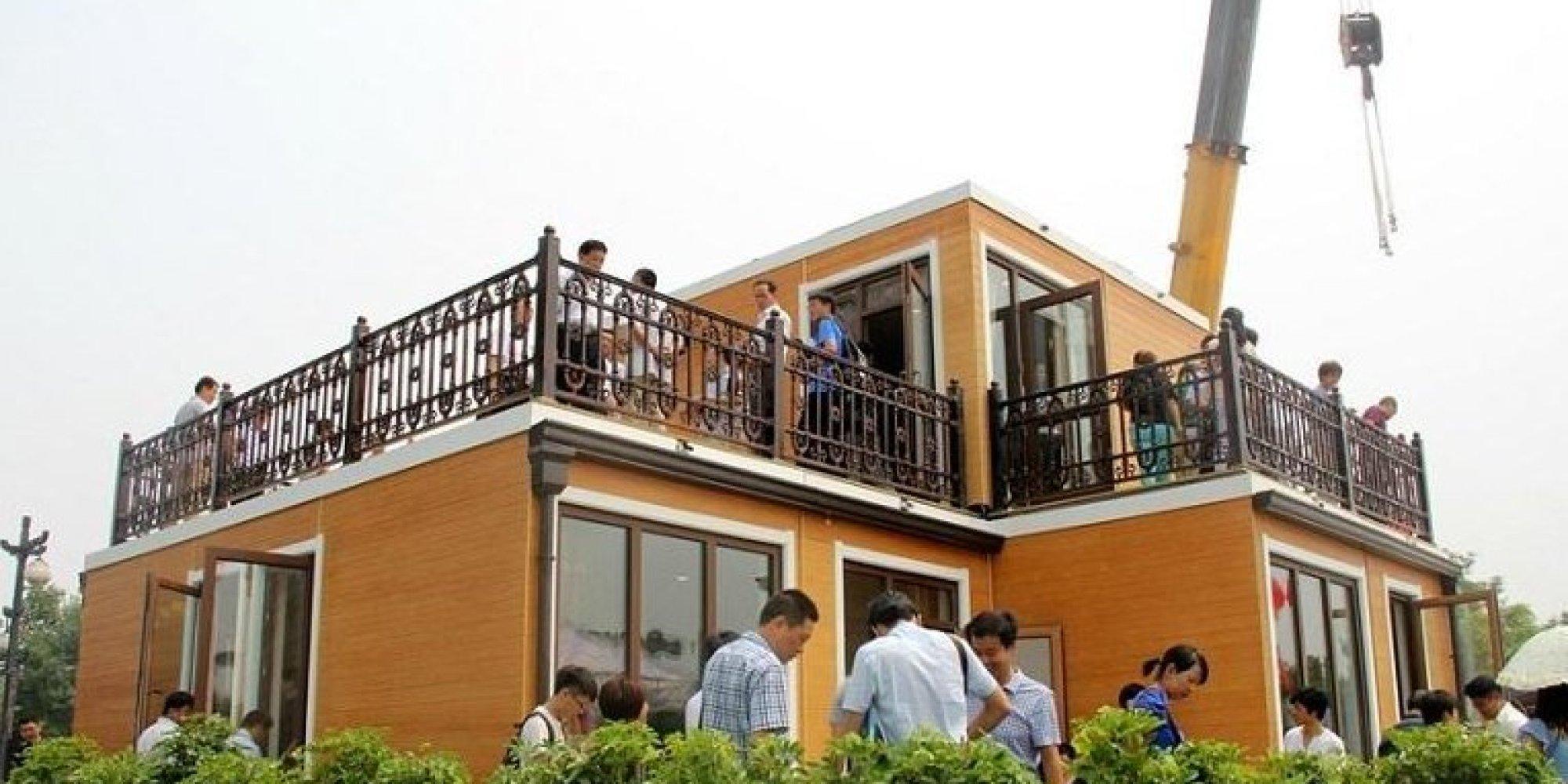 VIDÉO. Chine : une villa assemblée en 3 heures grâce à une ...