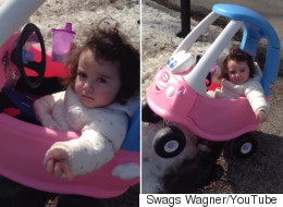 Dad Busts His Daughter For 'Drink Driving' And It's Adorable